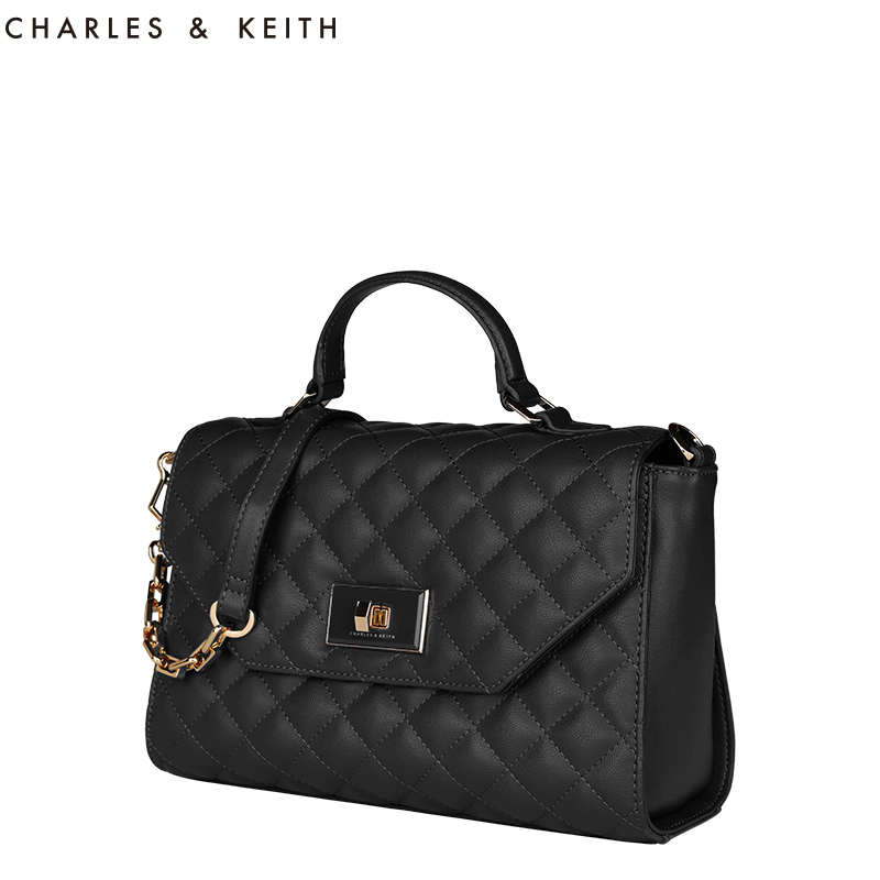 [New] Charles & amp; amp; Keith2014 autumn portable shoulder bag new handbag Quilted CK2-50670127