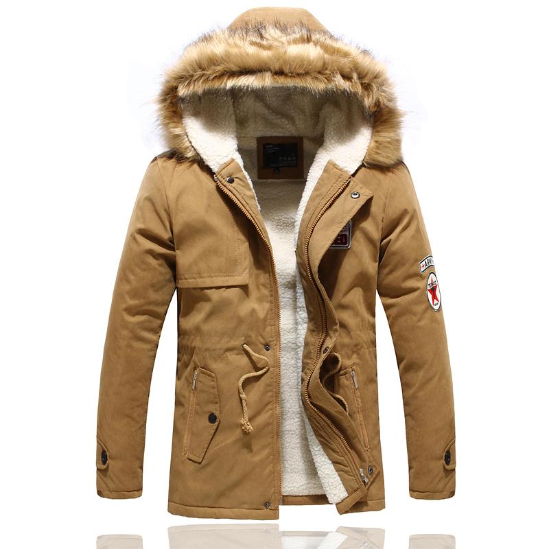 2013 новые тонкие длинные с капюшоном сгустить армии зеленые волны мужчин хлопка пальто Агнца вниз получает пальто куртки