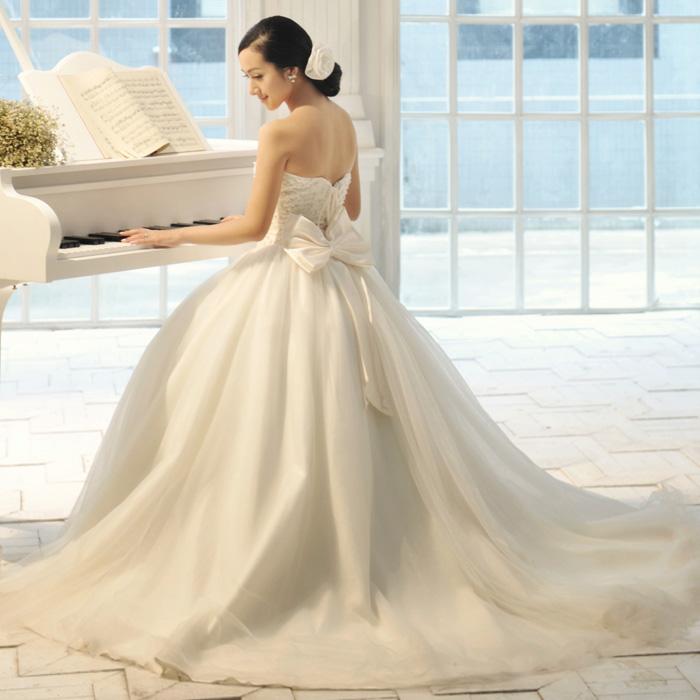天使的嫁衣公主新娘  韩版抹胸齐地婚纱2013新款