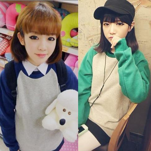 Толстовка женская 2013 г падение осени новой корейской версии женская водолазка с длинным рукавом свитер пальто женщин весной случайные студент ЧАО тонкий