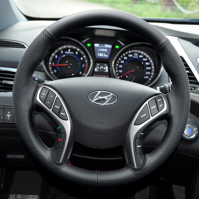 Modern Lang moving special hand-stitched steering wheel cover to cover cowhide leather steering wheel cover Lang dynamic modification