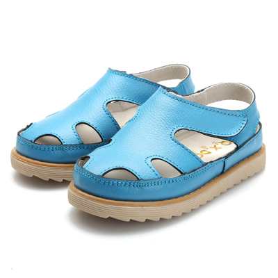 Millennium beans Baotou baby boys and girls children's shoes, leather sandals, leather sandals female Korean tidal hole shoes