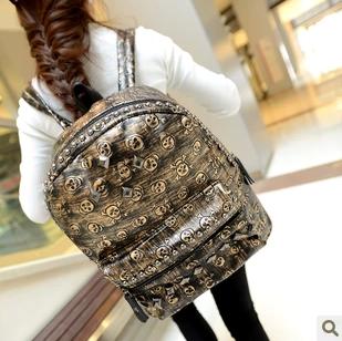 Сумка Череп мешок 2013 новые моды волны прохладно поведение школа школьник студент пакет сумка сумка почта