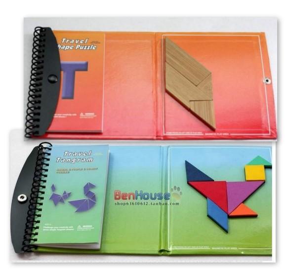 Пазл Учащихся начальной школы магнитные Танграм математике основные классические головоломки игрушка для детей 21.