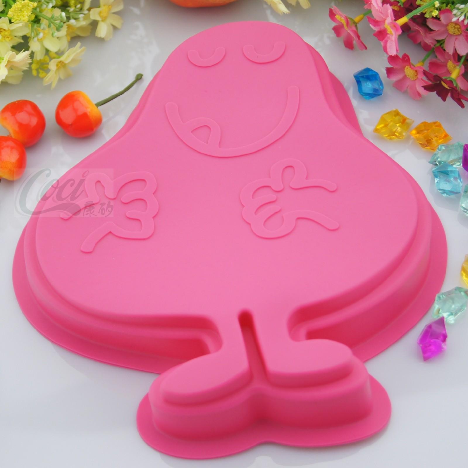 康矽2013新款 贪吃先生硅胶蛋糕模具最新DIY烘焙工具创意厨房用品