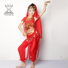 Belly dancing belly dance costumes new winter children suit Indian dance performance costumes suit practice