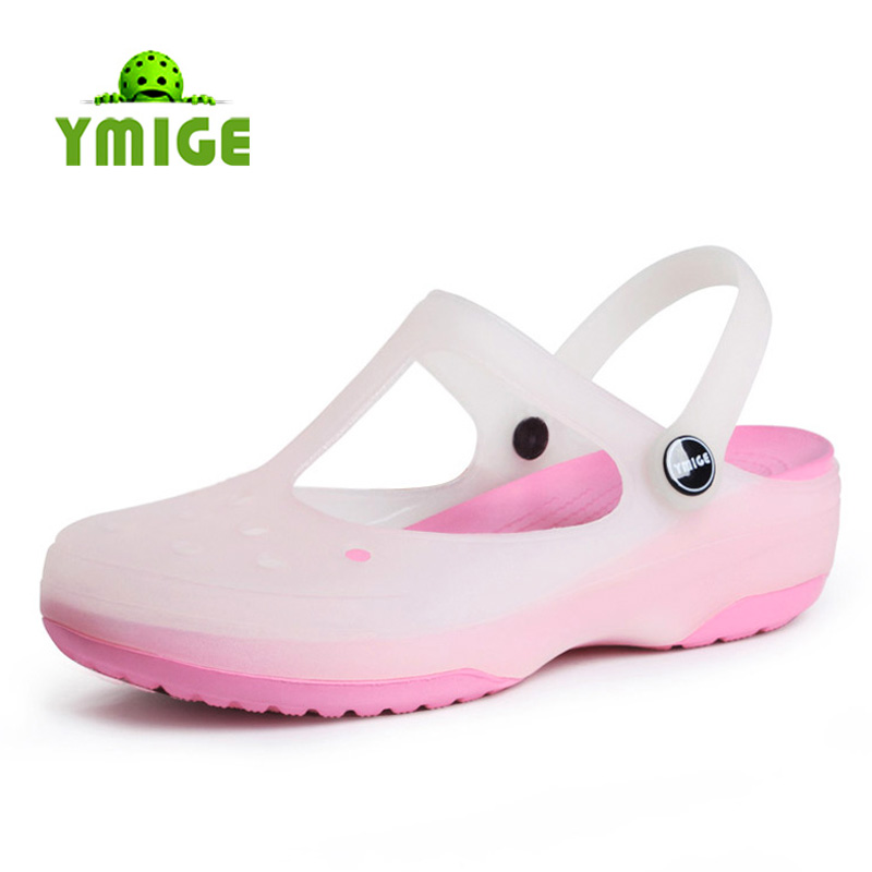 Meg hole color-Mary Jane shoes footwear Sandals Sandals flat jelly shoes slippers at the end of summer