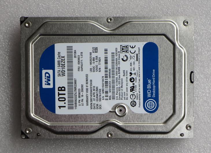 wd/西部数据 wd10ezex 1t 台式机硬盘 台机硬盘 坏硬盘 串口 蓝盘图片