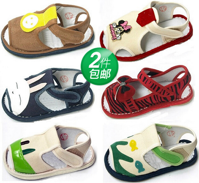 Free shippingJin beans boys and girls shoes handmade cloth sandals Melaleuca Korean baby summer sandals Baotou section