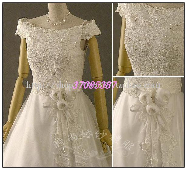 Свадебное платье 2011 г. экспорт Японии тонкой хвост Свадебное платье (плётки-0032) Плотная ткань Небольшой шлейф