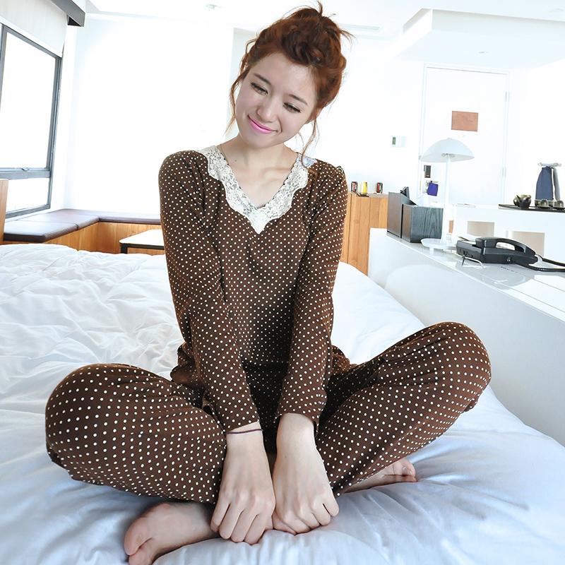 Пижама Длинный рукав пижамы принцесса сексуальный кружевной Одежда для осень/зима подходят простые повседневные качества