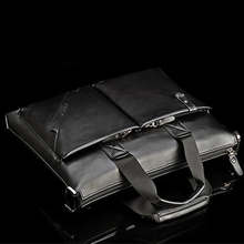 Man bag shoulder bag Messenger bag business bag briefcase computer bag leather bag leather authentic Korean casual