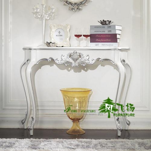 日式新古典住宅家具 客厅时尚创意实木白色隔断玄关台玄关桌