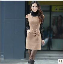 卓多姿 2013正品 秋冬装女装韩版修身大码毛呢连衣裙纯色短袖裙