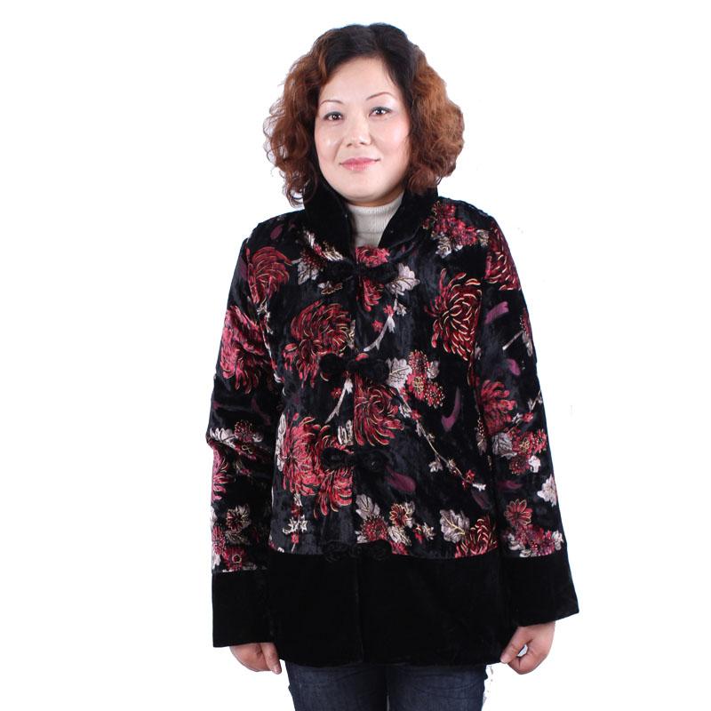 2012中老年女装棉衣棉服秋冬新品老年人加厚外套妈妈装上衣