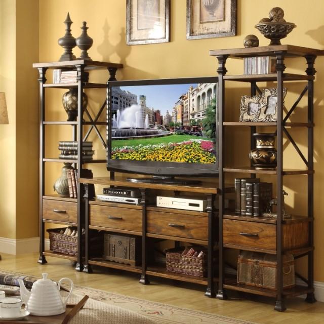 Тумба под телевизор Американской деревни кованого железа ТВ шкафы в старые консоли ящик полки шкафы LCD кабинет