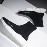 袜子鞋秋冬季鞋子男鞋加绒潮情侣鞋高帮鞋韩版潮流休闲运动鞋棉鞋