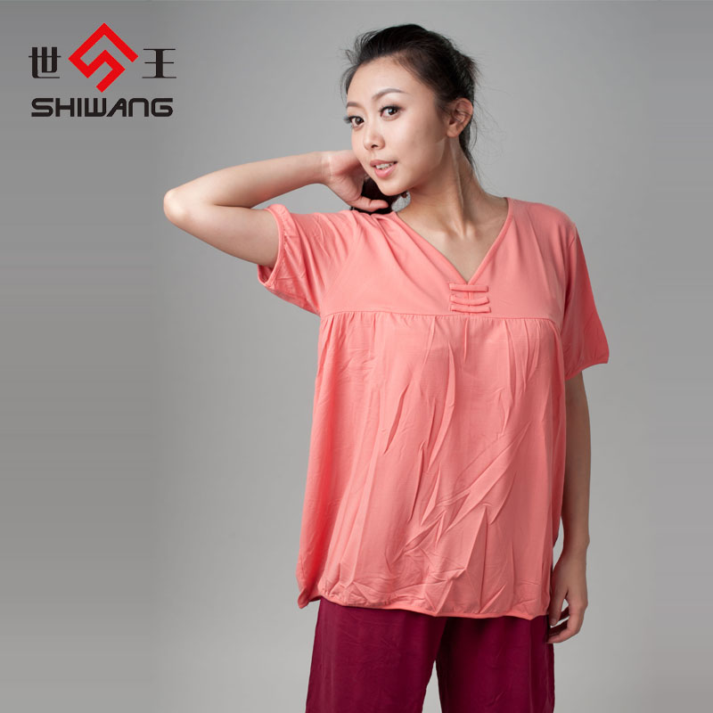 Одежда для сна 2013 Новые единая дамы лето пижамы вершины модальных свободные t рубашка короткий рукав пижамы, пижамы и отдыха