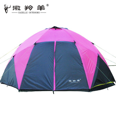 Emblem antelope outdoor camping tent camping tent large team of 8-10 people double rain-grade tents