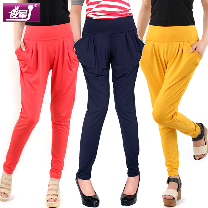 Leisure pants girl Korean version flows Harlan summer plus size girls pants candy pencil thin junjun leggings footless tights