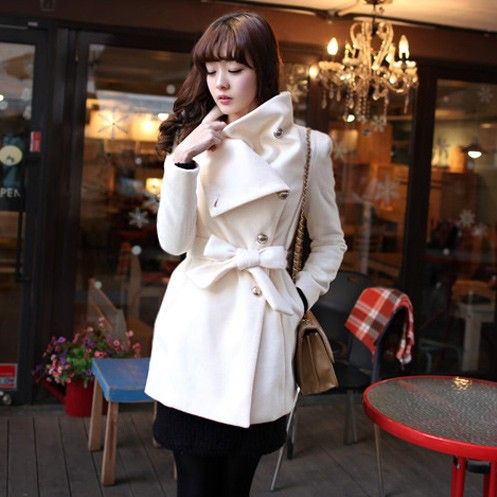 In winter 2013 Korean collar coat women's clothing long slim waist Barret jacket coat new