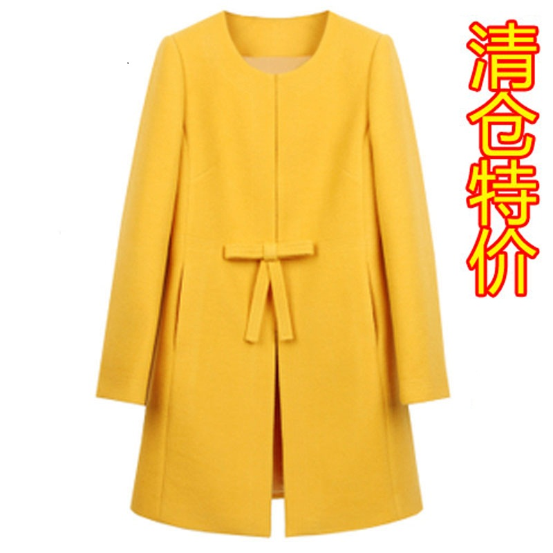 2013 spring new Korean Barret coat of imports women's clothing long slim wool woolen cloth