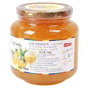 天猫超市韩国进口冲饮 全南 蜂蜜柚子茶 1kg 原装进口
