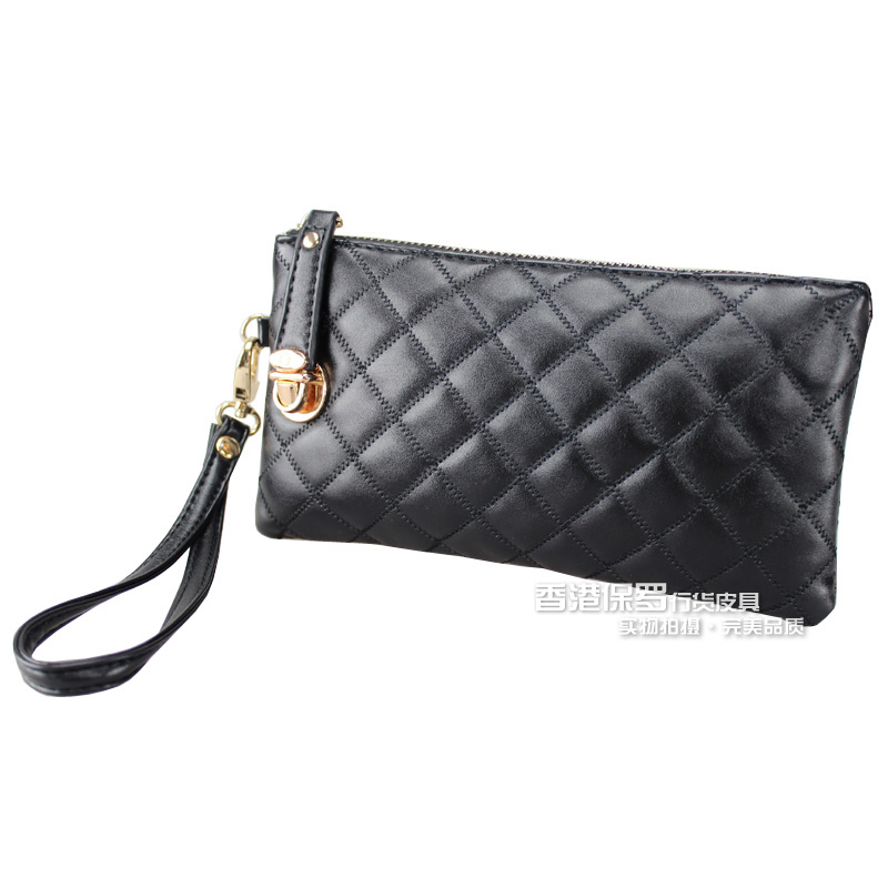 Lucky ladies handbags fashion the lock link Korean clutch bag ladies hand bags new coin purses women's bags-mail
