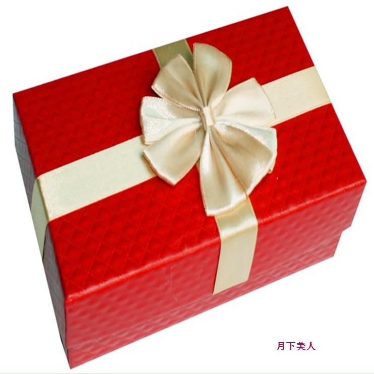 创意钻石纹长方形喜糖盒 大红喜糖盒 硬质高档喜糖盒 婚礼用品