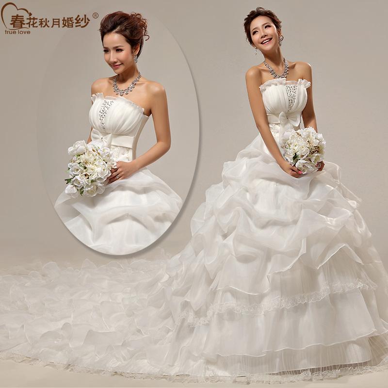 婚纱礼服 新款2013 婚纱 拖尾 公主韩版大码孕妇大拖尾婚纱 HS177