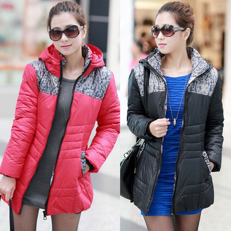 Женская утепленная куртка 2013 новый зимний платье размер пуховыми одеялами, хлопок Корейский нарушить тонкий слой длинные пальто женское в mail