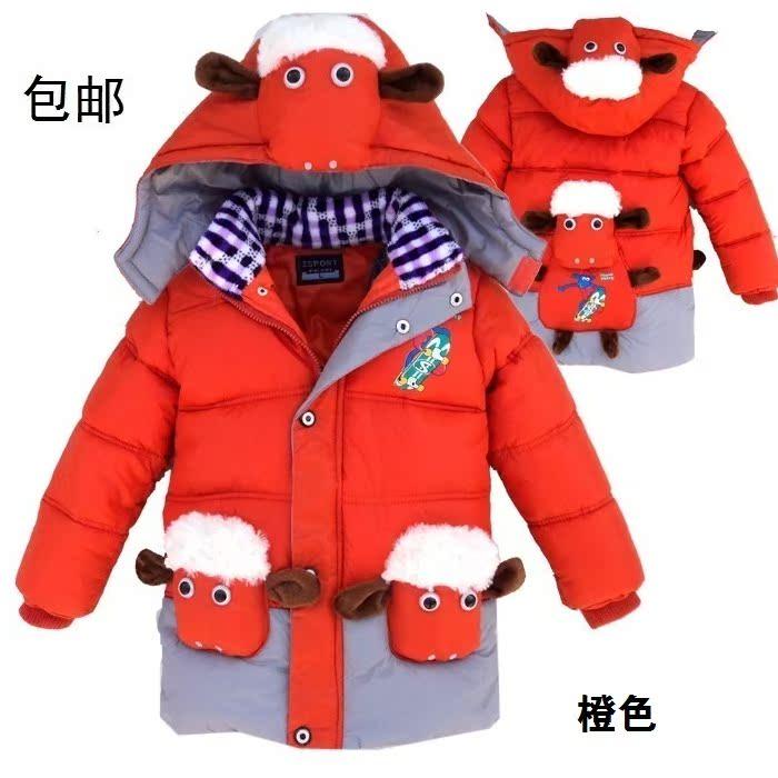 детская верхняя одежда OTHER 1382 Для молодых мужчин Утеплённая модель Фибра Персонажи мультфильмов С подкладкой из хлопка