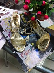 2013新款欧美水钻性感亮片夜店鞋金属链露趾凉鞋纯色细跟宴会鞋