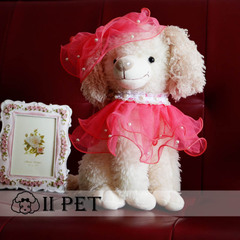 IIPET Teddy pet dog big bow tie necklace pink purple chihuahuas