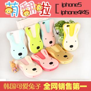 Apple чехол Стереоскопический 3D головы сахара кроликов iphone4/5 мобильный телефон Обложка силикон случае iPhone 4S защитный корпус