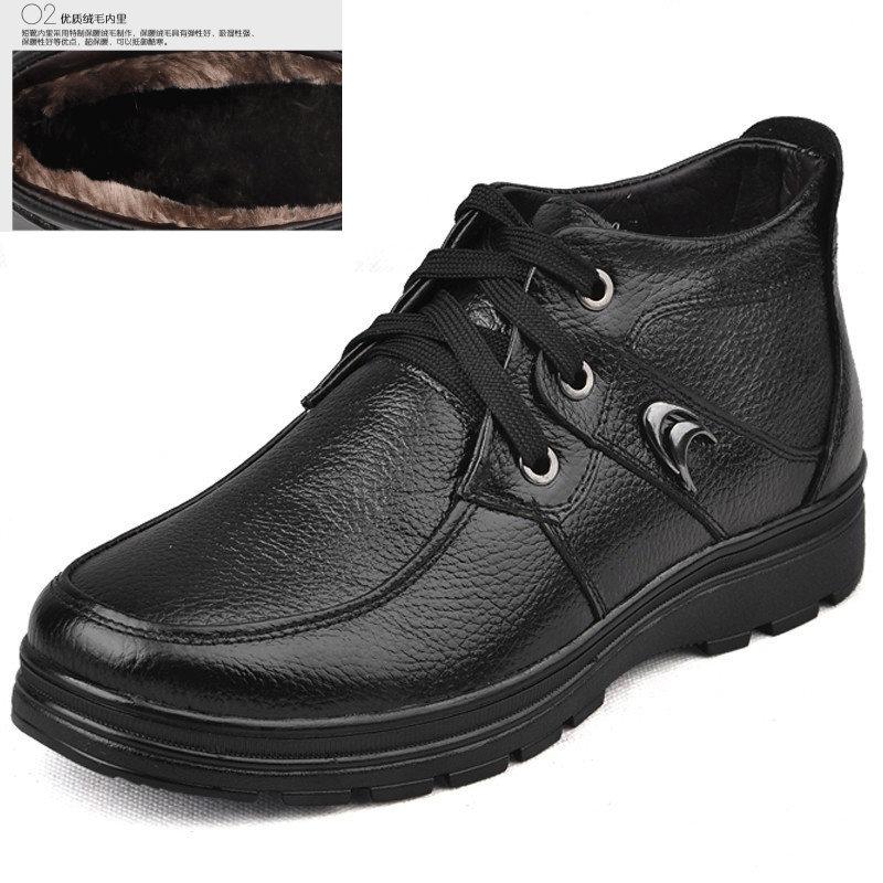 Ботинки мужские Exuberant fruit 827 800 Для отдыха Квадратный носок Кожа Мягкая кожа Зима
