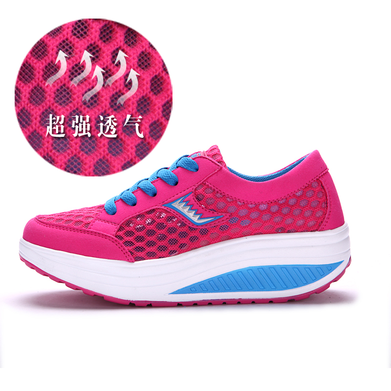 Ladies breathable in summer shake slimming shoes sneakers women's Shoes Sneakers shoe prints network Jin Beilei