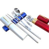 不锈钢便携餐具三件套装