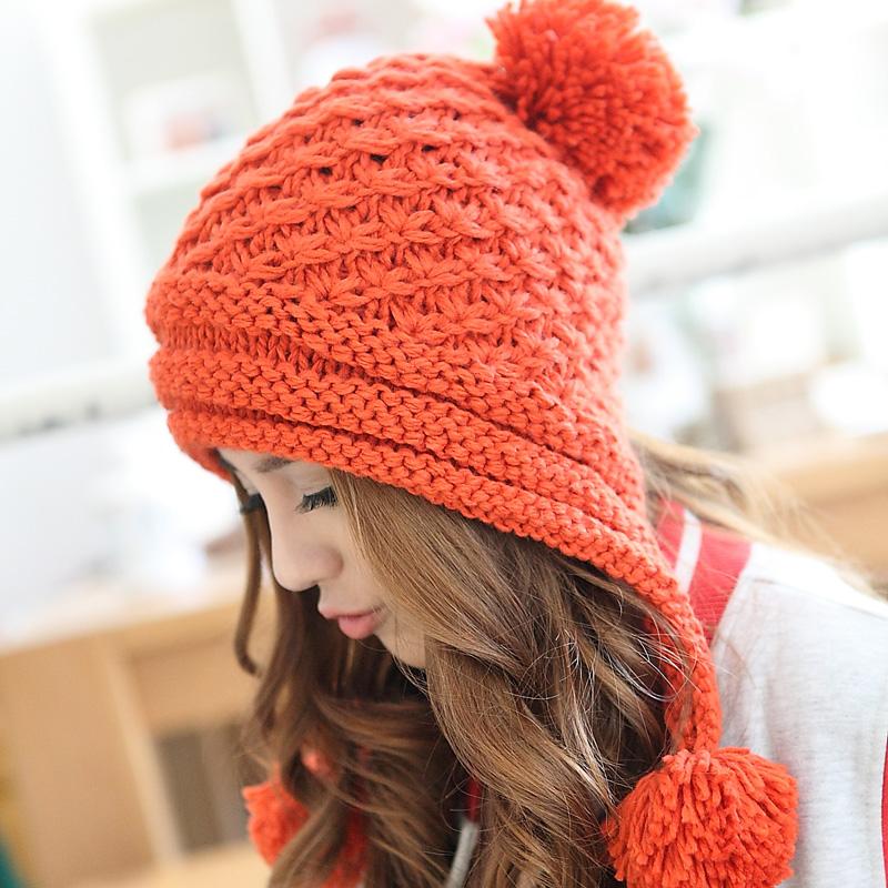Головной убор Пост Пекинской молодежи ди Яо Тан Цзяо Хань версия новой для осень/зима теплая шерсть шляпы длинной шерсти бейсбол шляпы шерсти Cap Вязаные/трикотажные шапки Шерсть Женское Зима