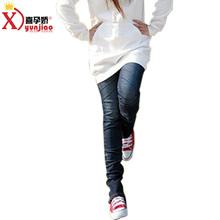 孕妇装春夏装新款 时尚韩版孕妇裤小脚铅笔长裤托腹牛仔裤修腿图片