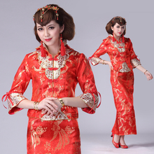 2013 new wedding dress cheongsam Xiao Fengxian toast improved Dragon Chinese dress bridal gown wedding dress