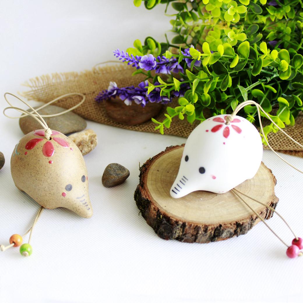 Музыка ветра Цзиндэчжэнь керамическая ручной росписью слонов милые дома ежедневно креативные Свадебные идеи подарков подарок почтовый пакет колокола