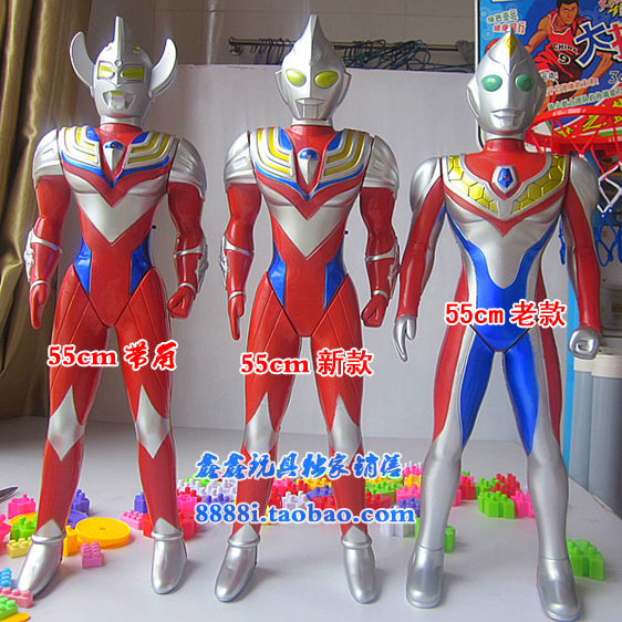 Package email 55cm King dijiasaiwentailuo Ultraman toys Act sets a model sound of Superman