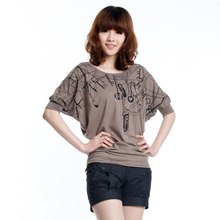 Achi child ladies 2013 new Korean large yards fat mm bottoming shirt bat loose short-sleeved T-shirt female summer tide