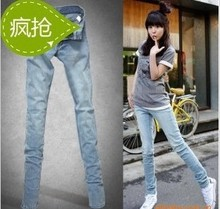 2013 new spring women pants feet pants, pencil pants thin jeans female Korean wave of blue jeans, thin