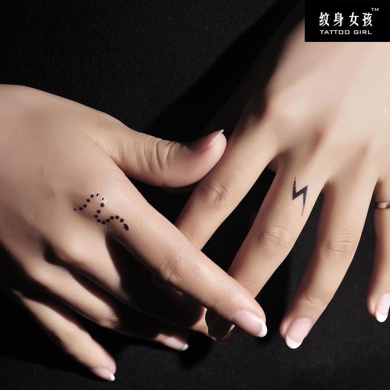 tg正品 纹身贴纸 防水 女 蔡依林手指同款 蛇 闪电 纹身贴 g006图片