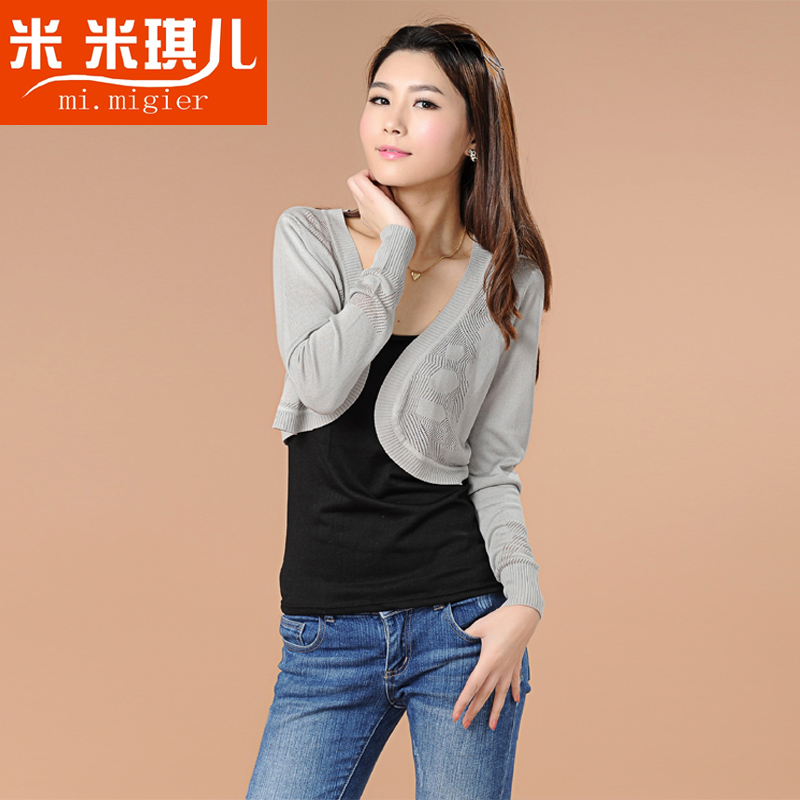Mi Miqi small vests sweaters short knit clothes for spring of 2013 new little sweater ladies sweater