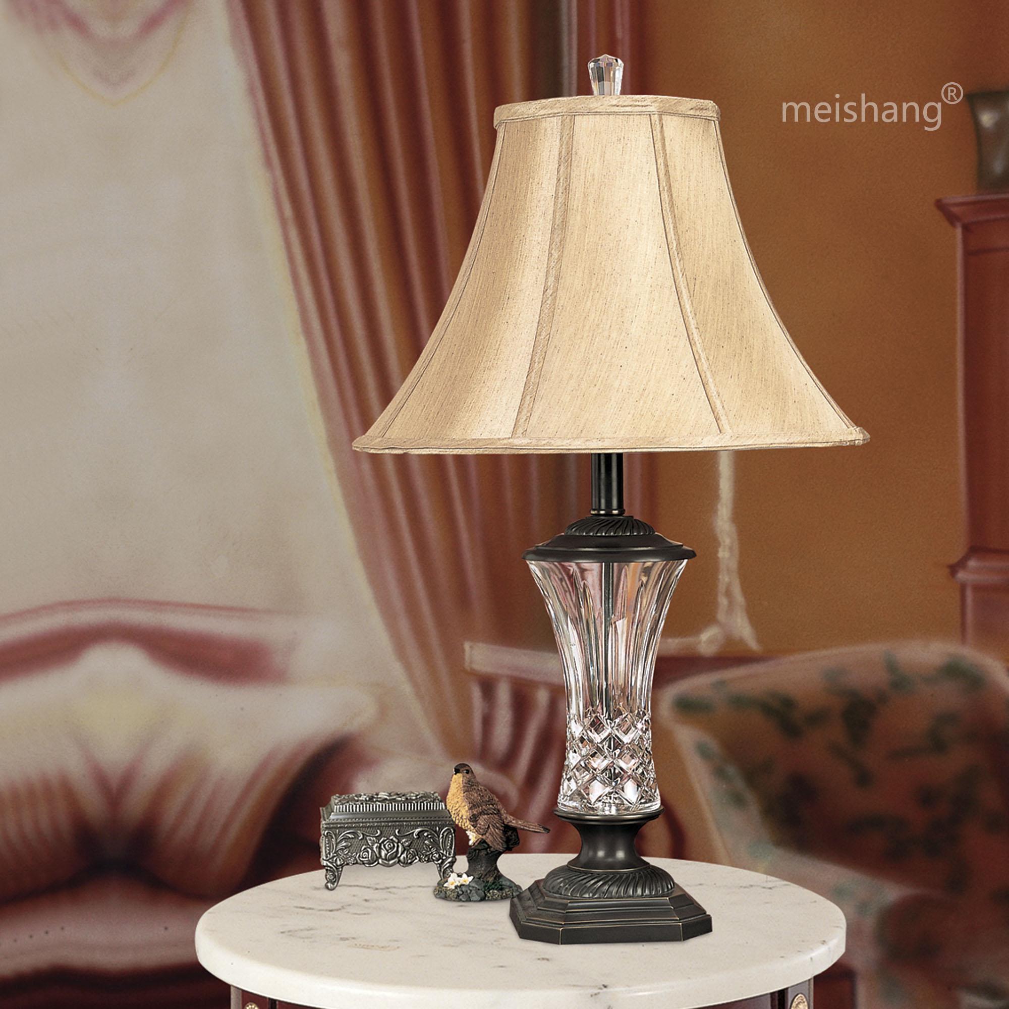 meishang现代美式全铜灯具 欧式客厅灯卧室灯床头灯玻璃台灯2410图片