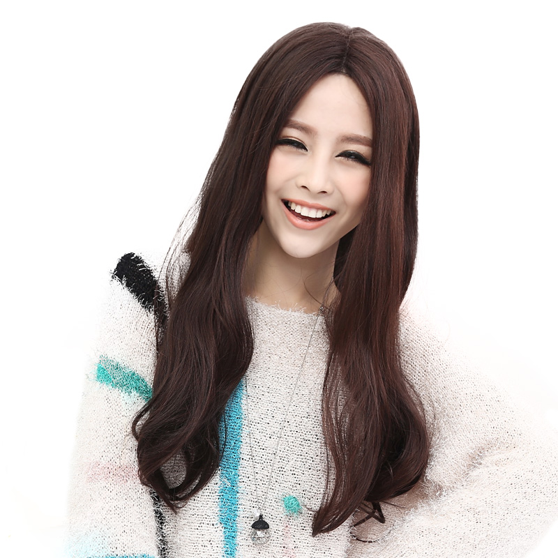 british qi wig 20% hand-woven hair the head ms. carve wig fluffy long ...