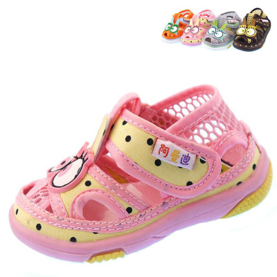 Mandi summer new male and female baby wear and baby Baotou sandals breathable shoes slip toddler shoes